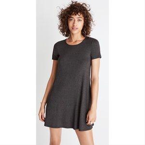Madewell Gray Swingy Tee Jersey dress